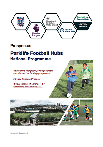 Parklife Football Clubs National Programme